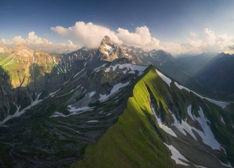 Panorama Allgäu Alpen Berge Oberstdorf Trettach Stillach Frühling Spring Oberallgäu Hochfrott Mädelegabel