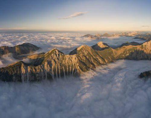 Panorama Allgäu Alpen Berge Hinterstein Herbst Schneck Giebel Hochvogel Oberallgäu