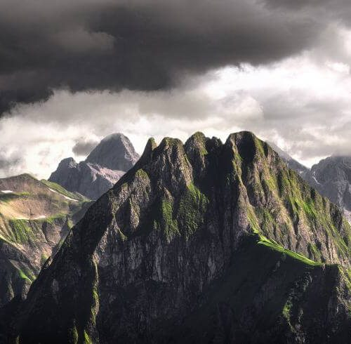 Panorama Allgäu Alpen Berge Oberstdorf Sommer Oberallgäu
