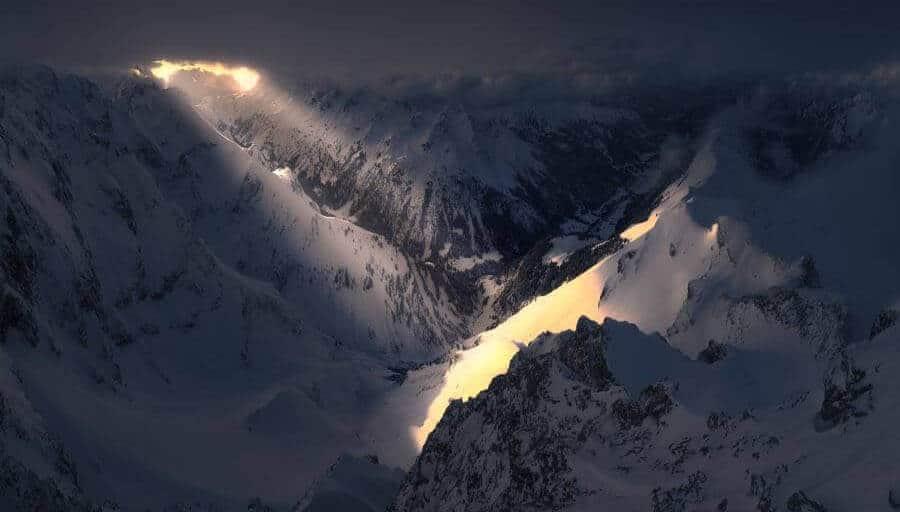 Landschaftsfotograf Jonathan Besler Oberstdorf Winter Trettach