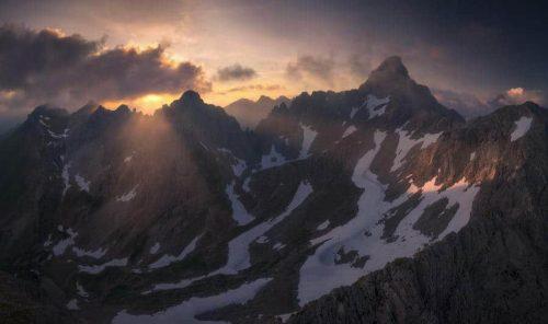 Landschaftsfotograf Landschaftsfotografie Fotografie Landschaft Natur Zeit Panorama Allgäu Alpen Berge Hinterstein Frühling Schnee Schneck Grosser Wilder Hochvogel Oberallgäu
